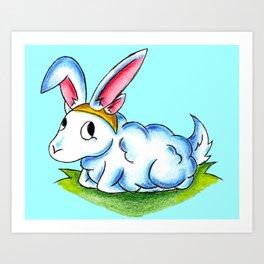 Bunny Fluff Art Print