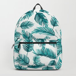 Tropical Palm Leaf Pattern Backpack