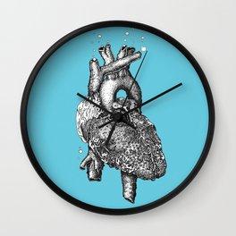 Reef heart Wall Clock