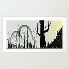 Forest of Dots Art Print