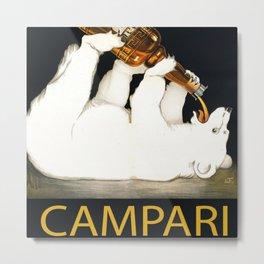 Vintage 1928 Campari Polar Bear Alcoholic Bitters Advertisement by Franz Laskoff Metal Print