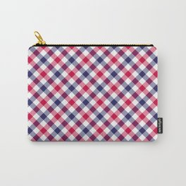Gingham RWB Carry-All Pouch