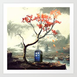 Tardis With A Tree Art Print
