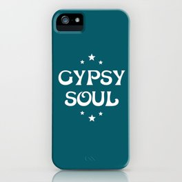 Gypsy Soul Mystical Stars Teal iPhone Case