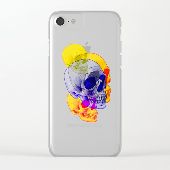 Skullfest Clear iPhone Case