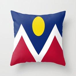 flag of denver Throw Pillow