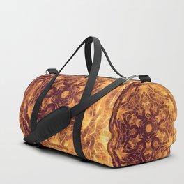Abstract earth tone mandala Duffle Bag