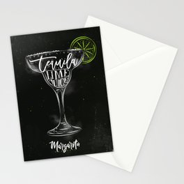 Margarita cocktail chalk color Stationery Cards