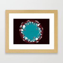 Planet Two Framed Art Print