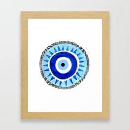 Occhio di Allah, Nazar Boncuk Framed Art Print