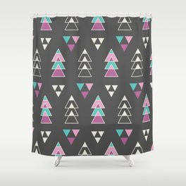 Mystic Triangles Shower Curtain