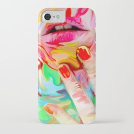 Melting Girl VI iPhone Case