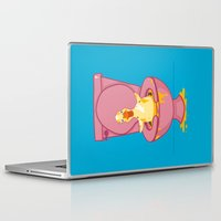 toilet Laptop & iPad Skins featuring Toilet Duckling by Chris Piascik