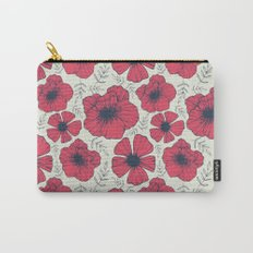 Raspberry Flowers Carry-All Pouch
