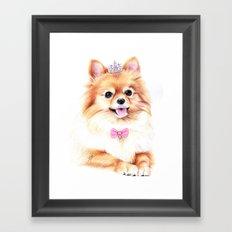 Pomeranian Princess Framed Art Print