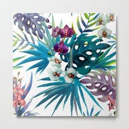 Tropical Watercolor Pattern Var. 6 Metal Print