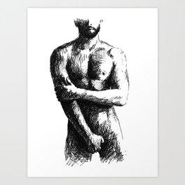 Man with a Beard Art Print