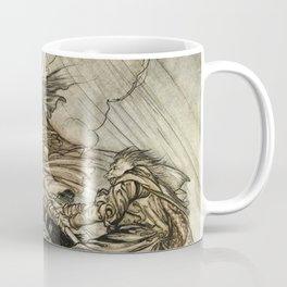 "Four Witches ""Up The Chimney"" by Arthur Rackam Coffee Mug"