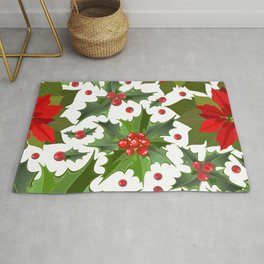 Christmas berry pattern Rug