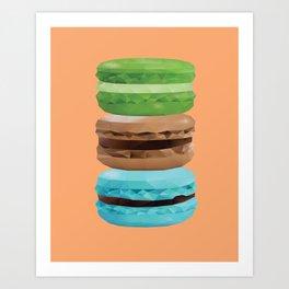 Macarons Polygon Art Art Print