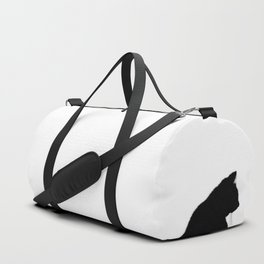 Black cat silhouette Duffle Bag
