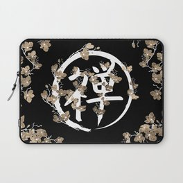 Blossoming Enso circle and Zen hieroglyph #3 Laptop Sleeve