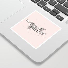 Tiger and Sun I. Sticker