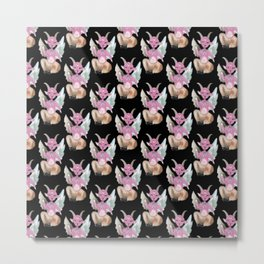 cute baphomet pattern Metal Print