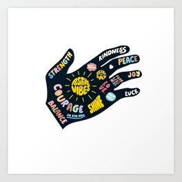 Positivity – Helping Hand Art Print