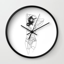 Pin Up 2 (Garter) Wall Clock