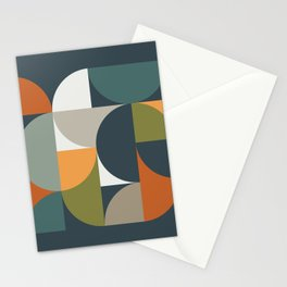 Mid Century Geometric 12/2 Stationery Cards