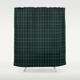 Green and Blue Plaid Shower Curtain