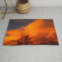 Orange Colorado Sunrise Rug