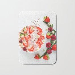 strawberry smoothie #society6 #decor #buyart Bath Mat