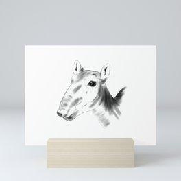 Saiga Antelope Sumie Mini Art Print