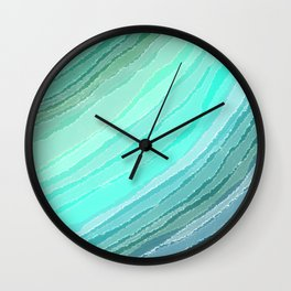 Sea Glass Wall Clock