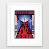 write Framed Art Prints featuring WRITE! by Alli Vanes
