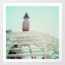 Pineapple on top Art Print