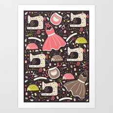 Vintage Sewing Art Print