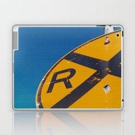 Railroad Sign-Film Camera Laptop & iPad Skin