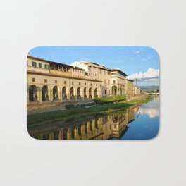 The Arno River - Florence Italy Bath Mat