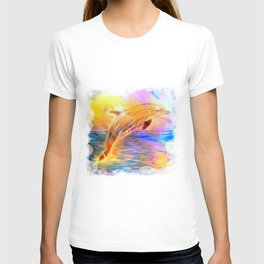 Sunset Dolphin T-shirt