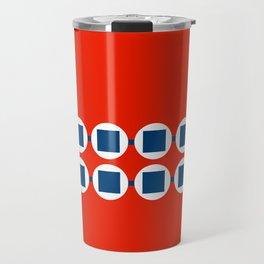 Retro Beaded Bracelet Pop Art - Red White Blue Travel Mug