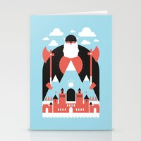 king Stationery Cards featuring King of the Mountain by Chase Kunz
