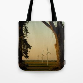 Sunset Turbines in Nature Tote Bag