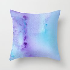 Philip Bowman Abstract Watercolor Art Blue And Purple Modern Painting Throw Pillow