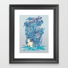Ocean Queen Framed Art Print