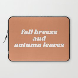 fall breeze and autumn leaves Laptop Sleeve
