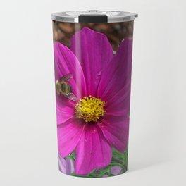 Coreopsis Flower with Bee Travel Mug