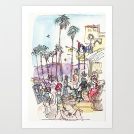 A Day at Venice Beach Art Print